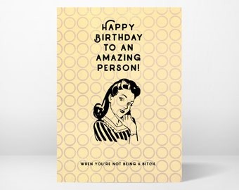 birthday card, greeting card, funny, whimsical, sassy pants, printable, 5x7, instant download, digital