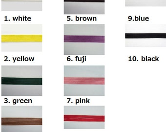 Mizuhiki KINU Decorative Paper Cords Asian Knot 10 colors