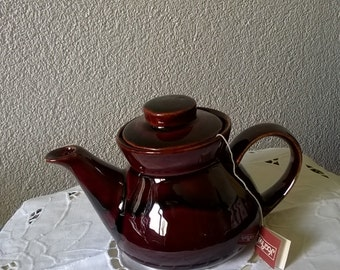 Teapot, with handles and lids, vintage Brown glazed
