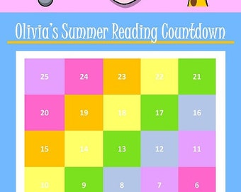 Summer Reading Countdown Poster (Personalized/Custom)