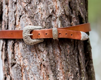 """Leather Belt, Simple Western Style (1"""")"""