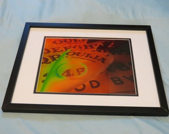 """Framed and Matted """"OUIJA BOARD DEMON"""" Print! 12x15 Metal Frame!"""