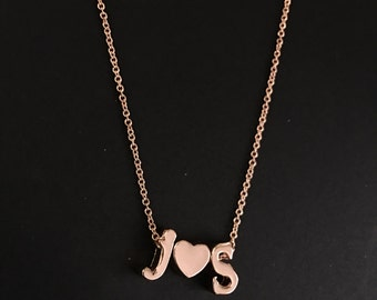 Personalized Lowercase Initial Pendant Necklace