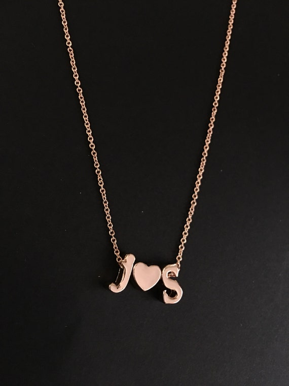 Personalized lowercase initial pendant necklace for Lowercase letter necklace