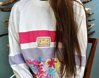 Vintage 80s 90s hipster sweetshirt oldschool hoodie