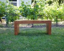 Small Handmade Modern Bench