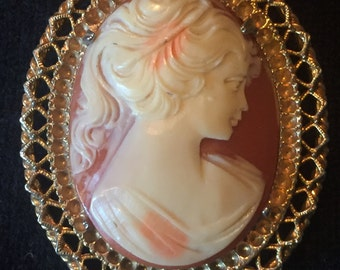 Faux Cameo Multi-Purpose Pendant/Pin