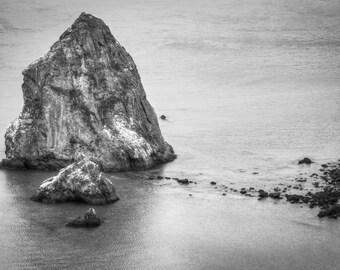 Ocean Water Print, Beach Prints, Big Rocks Print, Nature and Landscape Prints, Coastal Photography, Black White Photos, Nautical Prints