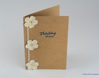Flower Thinking of You Cards