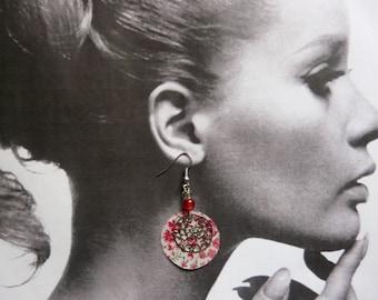 liberty earrings pink
