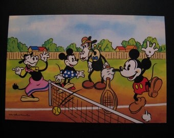 Original vintage card Walt Disney Productions 80s ... Mickey Mouse