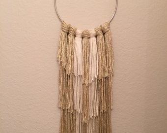 Gold and Cream Ring Wall Hanging