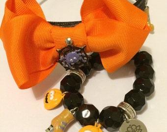 Halloween charm headband and bracelet set