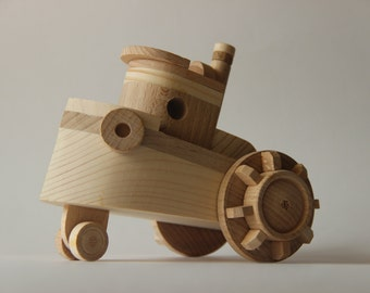 "Wooden toy steamship ""Botik"" ,children toy, eco friendly toy"