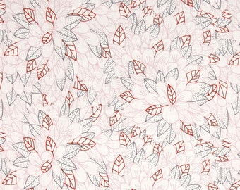 "Floral Fabric:  Cloud 9 Organic Kindred Blomma Voile Pink 100% cotton fabric by the yard  36""x43"" (G347)"