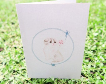 "Greeting Card - ""Kitty Toebeans"""