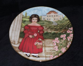"""1986 Knowles American Innocents """"Abigail in the Rose Garden"""" Collector Plate by Marsten-Mandrajji"""