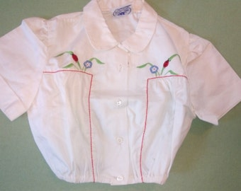 adorable shirt 1950 s old stock! brand pretty ship