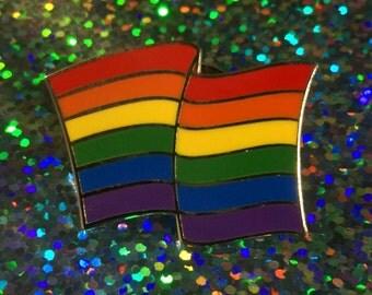 Rainbow Flag Pin - LGBTQ Flag (FREE SHIPPING)