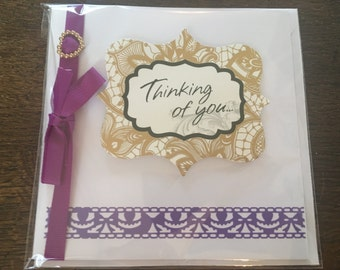 Handmade 'Thinking of You' Greetings Card