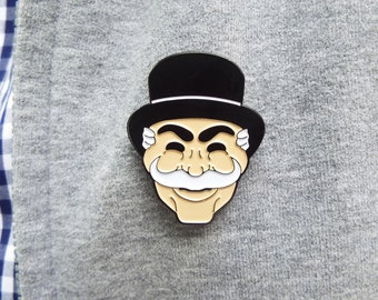 Mr. Robot Mask Enamel Pin / FSOCIETY Pin