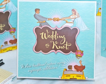 Wedding or Knot Board Game for Bridal Showers and Bachelorette Parties!
