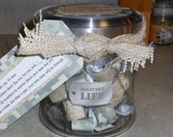 Journal Jar for Military Spouse