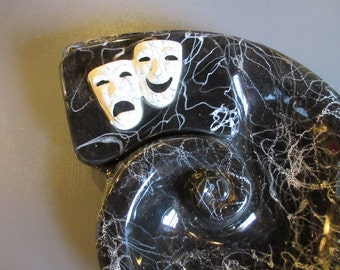 NEW REDUCTION! - Comedy/tragedy vintage ashtray