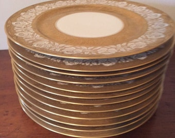 Set of 12 Heinrich & Co. Gold Chargers