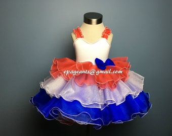 National Pageant Dress Shell / Patriotic wear / 4th of July wear