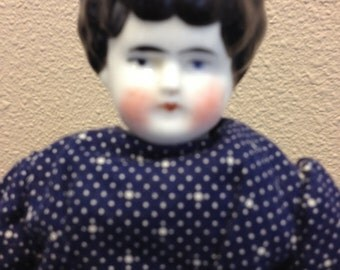 Antique old china glass doll