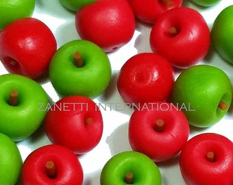 20 Mixed Dollhouse Miniature Red and Green Apples - Mini Food / Fruit
