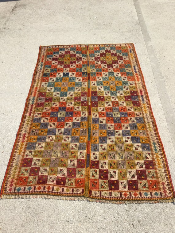 277x162 cm 91x53 feet embroidered kilim rugdecorative home for 162 cm to feet