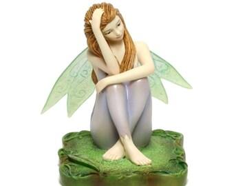 Miniature Dollhouse FAIRY GARDEN ~ Retired Eucalyptus Fairy  ~ NEW