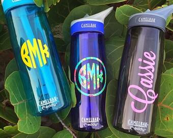 Camelbak with Personalized Name or Monogram, Camelbak Eddy Water Bottle .75L, Custom Camelbak, Personalized Camelbak, Water Bottle