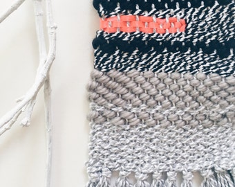 black + white weave