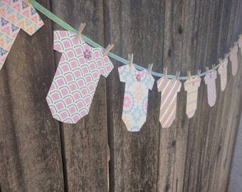 Girly Onesie Baby Girl Shower Garland flower floral glam glittery shimmery purple pink blue yellow green silver party supplies decor