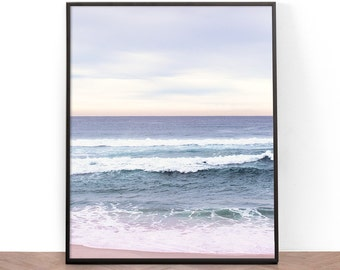 Beach Photography Print, Printable Wall Art, Photography, Wall Art, Ocean, Digital Download, Water, Waves, Coastal Chic, Tropical Beach