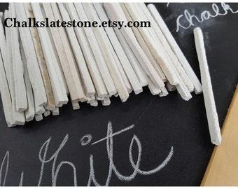 White Slate Pencils Natural Slate Stone White Chalk Pencils Set Of 50 Pencils