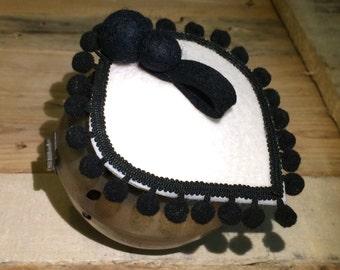 OLE' . Black & warm white head piece