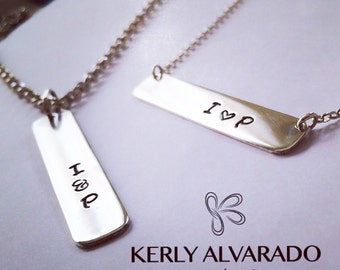 Necklace personalized plate