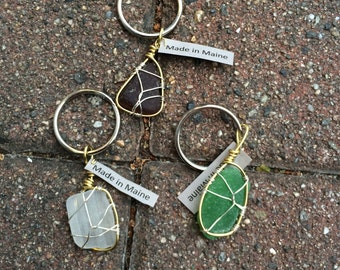 Hand Made OOAK Sea Glass Keychains