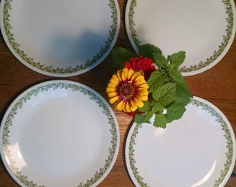 "Corelle Crazy Daisy 10"" plates Set of 4"