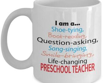 Gift for Preschool Teacher - Life-changing Preschool Teacher Mug
