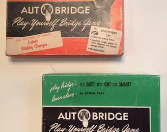 1950's Autobridge Biginners & Advance Play-Yourself Bridge Game.