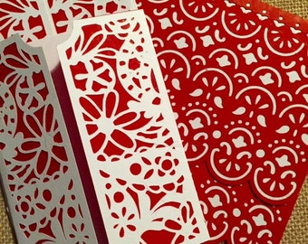 Red and White Blank Cards - 4 pk