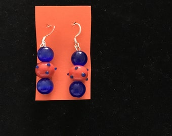 Orange & Blue Earings