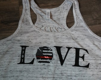 Thin Red Line Love Racerback