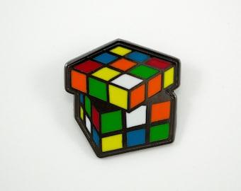 Rubik's Cube Enamel Pin