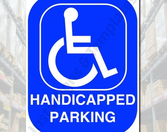 Bathroom Sign Handicap handicapped bathroom | etsy